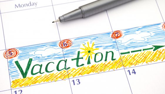 Reminder Vacation in calendar