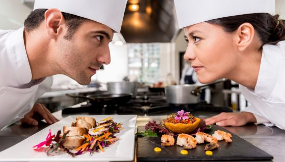 Competitive chefs